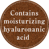 Contains moisturizing hyaluronanic acid