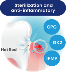 Sterilization and anti-inflammatory