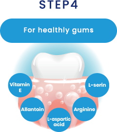 STEP4 For healthly gums
