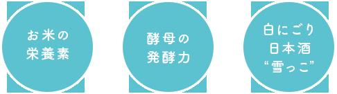 """お米の栄養素 × 酵母の発酵力 × 白にごり日本酒""""雪っこ"""""""